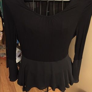 Black Two Toned Blouse